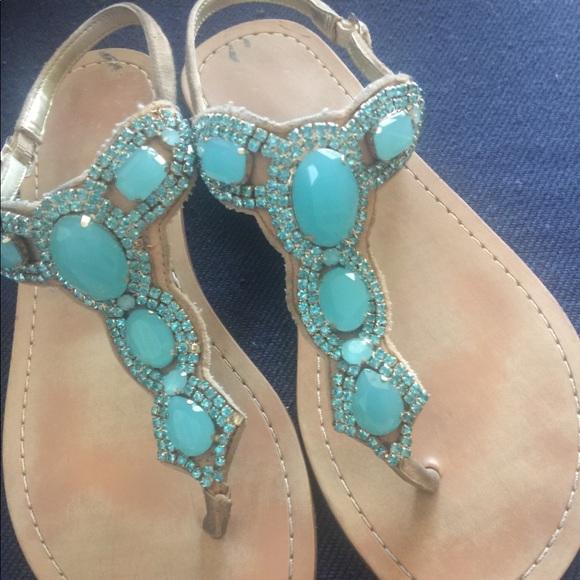 45c9aaa41744 Ivanka Trump Shoes - Ivanka Trump leather jewel sandals